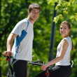 Young couple jogging — Stock Photo #12523388