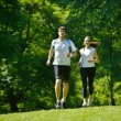 Young couple jogging — Stock Photo #12523873