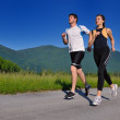 Young couple jogging — Stock Photo #12526034