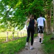 Young couple jogging - Foto Stock