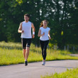 Young couple jogging — Stock Photo #12529080