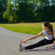 Woman stretching before fitness — Stock Photo #12530504