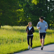 Young couple jogging — Stock Photo #12531193
