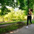 Young beautiful  woman jogging — Foto Stock