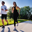 Young couple jogging — Stock Photo #12535259