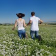 Royalty-Free Stock Photo: Happy couple in wheat field