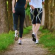 Young couple jogging at morning — Lizenzfreies Foto
