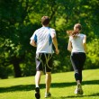 Young couple jogging at morning — Stock Photo #13213839