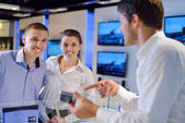 Buy in consumer electronics store — Stock Photo
