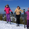 Winter season fun with group of girls — Stock Photo #13271180