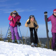 Winter season fun with group of girls — Stock Photo #13271182