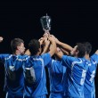 Soccer players celebrating victory — Stock Photo #13887171