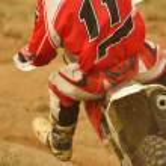 Motocross bike — Stock Photo