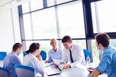 Ofisinde toplantıda iş — Stok fotoğraf