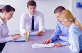 Business in a meeting at office — Stock Photo
