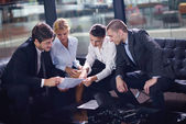 Business making deal — Stock Photo