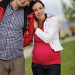 coppia felice all'aperto — Foto Stock #16027193