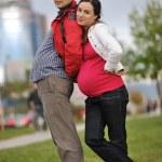 coppia felice all'aperto — Foto Stock #16027247