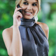 Business woman talking on cellphone — Stock Photo #1616254