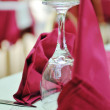 Restaurant table with empty wine glass — Stock Photo #1678955