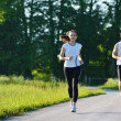 Couple jogging — Stockfoto #16789653