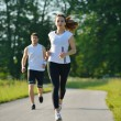 Couple jogging — Stockfoto
