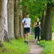 Stock Photo: Couple jogging