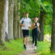 Couple jogging - 图库照片