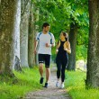 Couple jogging - Stock Photo