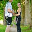 Couple jogging — Stock Photo #16790641