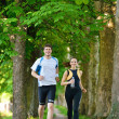 coppia jogging — Foto Stock #16790655