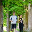 Couple jogging — Stockfoto #16790709