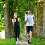 Couple jogging — Stock Photo #16790745