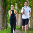 coppia jogging — Foto Stock #16790761