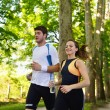 Couple jogging — Stock fotografie