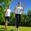 Couple jogging - Stockfoto