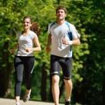 Couple jogging — Stock Photo