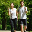 Couple jogging — Stock Photo #16791265
