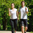 Couple jogging — Stock Photo #16791267