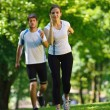 Couple jogging — Stock Photo #16791285