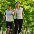 Couple jogging — Stock Photo