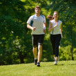 Couple jogging — Stock Photo #16791311