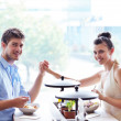 Young couple at luch — Stock Photo #16801913