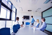 Negócios em uma reunião no gabinete — Fotografia Stock