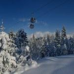 Ski lift gondola in Alps — Stock Photo #17412649