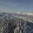 Mountain winter landscape — Stockfoto
