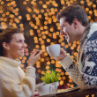 Romantic evening date - Stock Photo