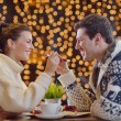Romantic evening date - 图库照片