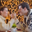 Romantic evening date - Stockfoto