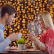 Romantic evening date — Stock fotografie